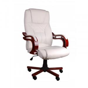 Kancelářské křeslo v bílé barvě na kolečkách