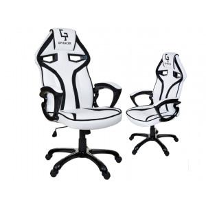 Kvalitní bílo černé kancelářské křeslo na kolečkách