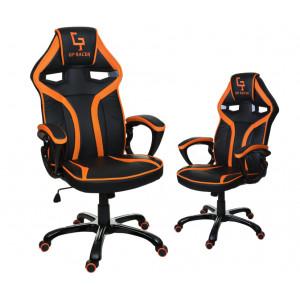 Oranžovo černé otáčecí křeslo do kanceláře