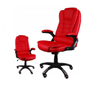 Moderní kancelářské křeslo v červené barvě