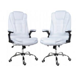 Kvalitní křeslo v bílé barvě do kanceláře
