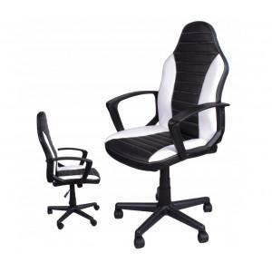 Sportovní kancelářské křeslo v bílo černé barvě