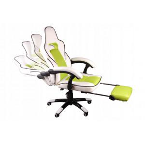 Pohodlné kancelářské křeslo s opěrkou na nohy