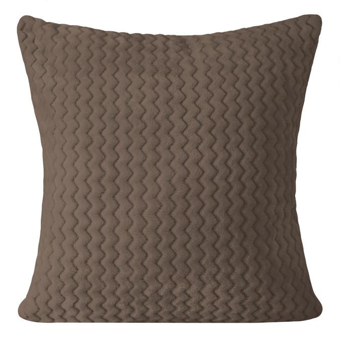 Hnědý pohodlný povlak v geometrickém tvaru