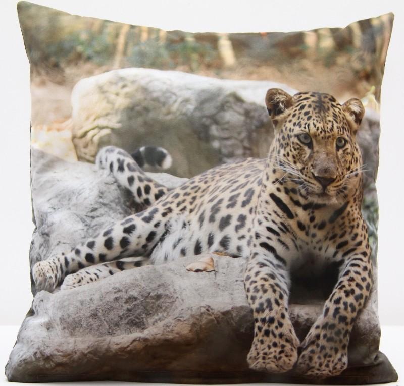 Povlak na polštář 3D s potiskem s motivem Leopard