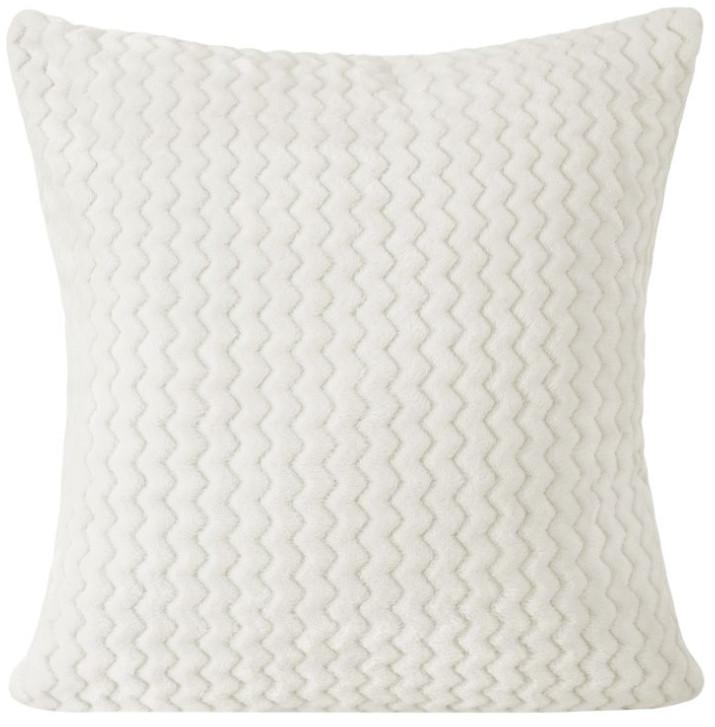 Bílý pohodlná povlak v geometrickém tvaru