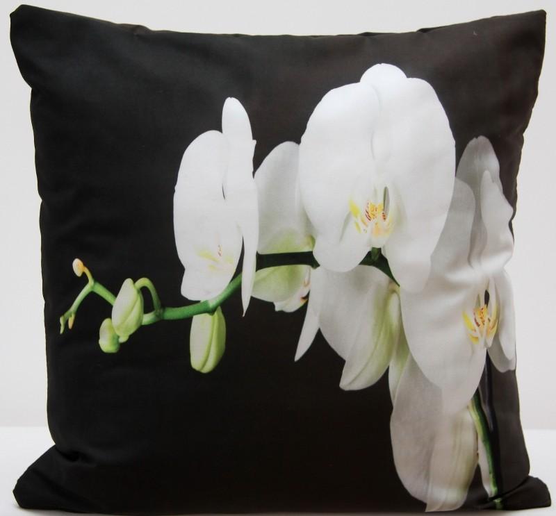 Povlak na polštář 3D s potiskem s motivem bílá orchidej