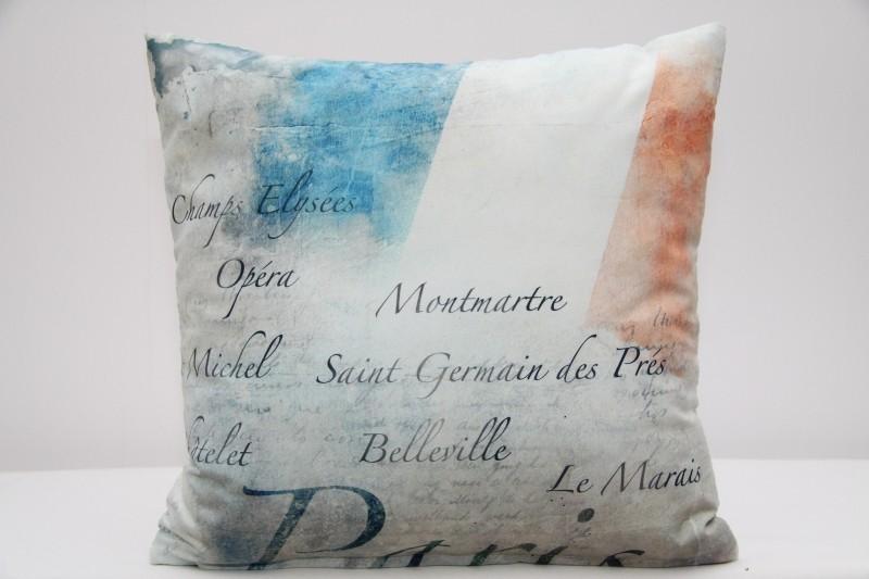 Povlak na polštář s motivem Paříž