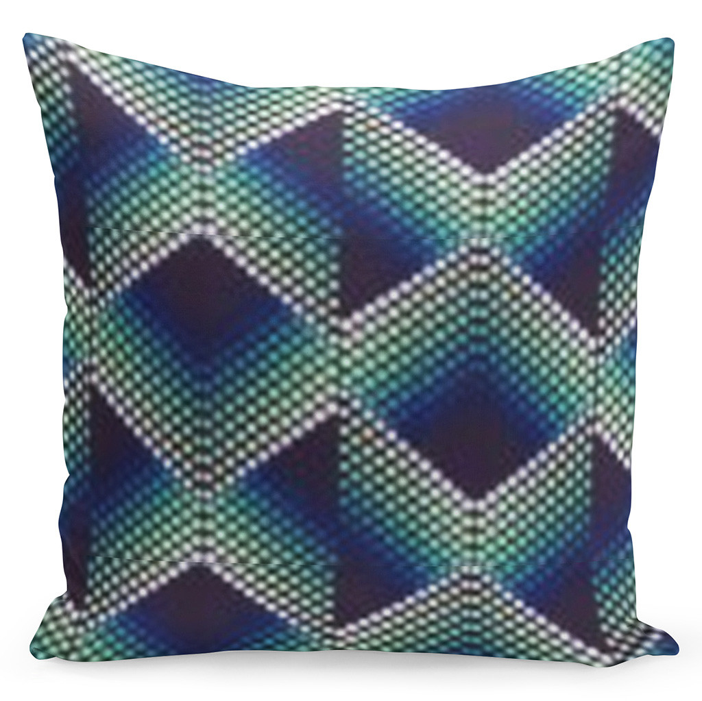 Pohodlný moderní povlak v barevné kombinaci