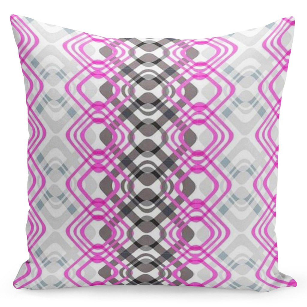 Šedý povlak s barevnými geometrickými tvary