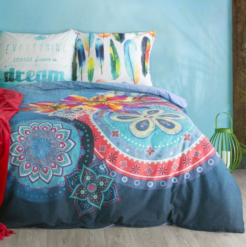 Luxusní bavlněné modré povlečení DREAM