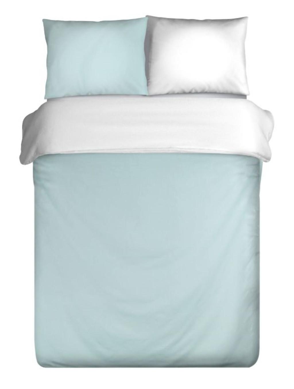 Pohodlné bavlnené posteľne obliečky v bielo modrej kombinácii