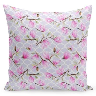 Fialový povlak s růžovou ozdobou