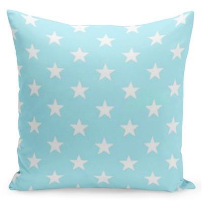 Tyrkysový povlak s hvězdami uprostřed