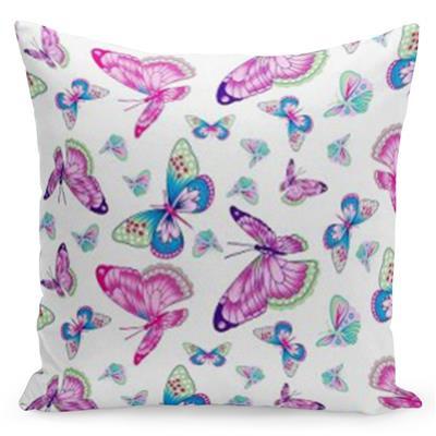 Bílý povlak s krásnými motýly