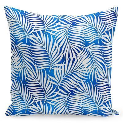 Krásný povlak v silně modré barvě s potiskem