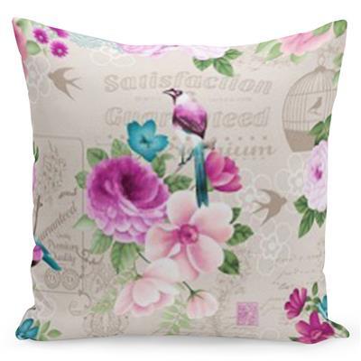 Pohodlný krémový povlak s potiskem romantických květin