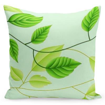Pohodlný zelený povlak s potiskem romantických stromů