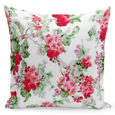 Pohodlný bílý povlak s potiskem červených růží