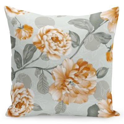 Pohodlný šedý povlak s potiskem pomerančových růží