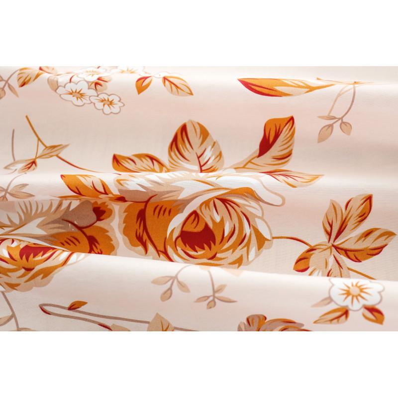 Hotové záclony s motivem květiny 160 x 250 cm