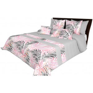 Růžový dekorační přehoz s exotickým motivem