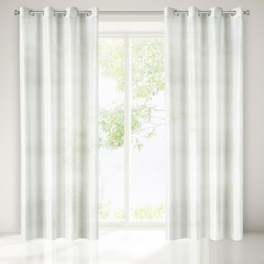 Bílo zlatá zaclona na okna bez motivu 250 x 140 cm