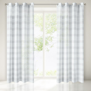 Bílá záclona na okna 250 x 140 cm