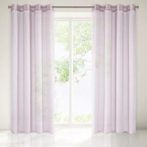 Jednoduchá záclona růžová záclona 140 x 250 cm