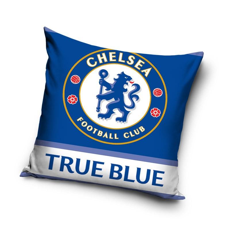 Modré povlaky na polštáře motiv Chelsea