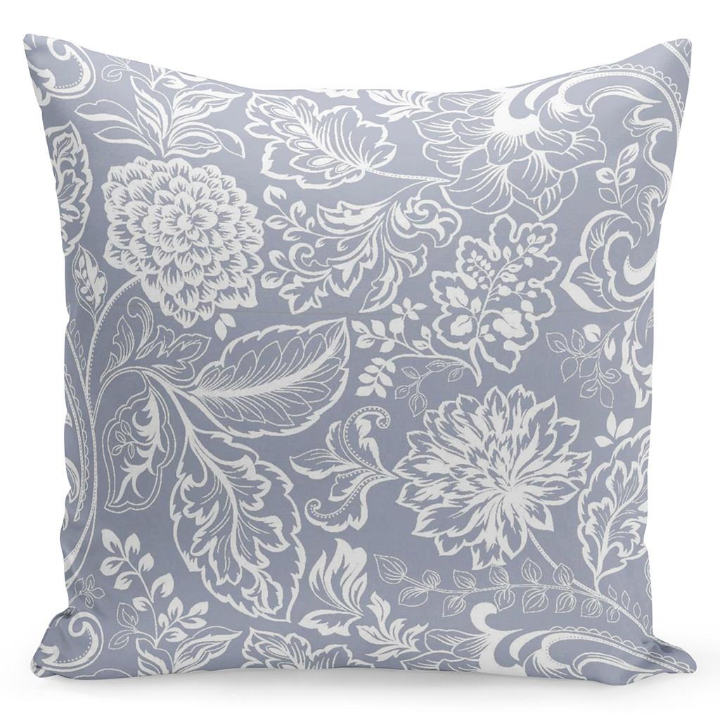 Nádherný šedě bílý povlak s krásnými ornamenty