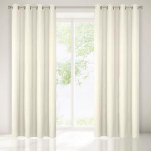 Krémový jednobarevný závěs na okno