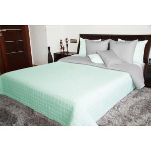 Moderní prošívaný přehoz na postel v mátově zelené barvě