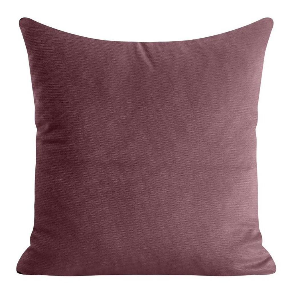 Krásný jednobarevný povlak na polštář v bordó barvě
