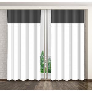 Elegantní černo bílý závěs do obýváku
