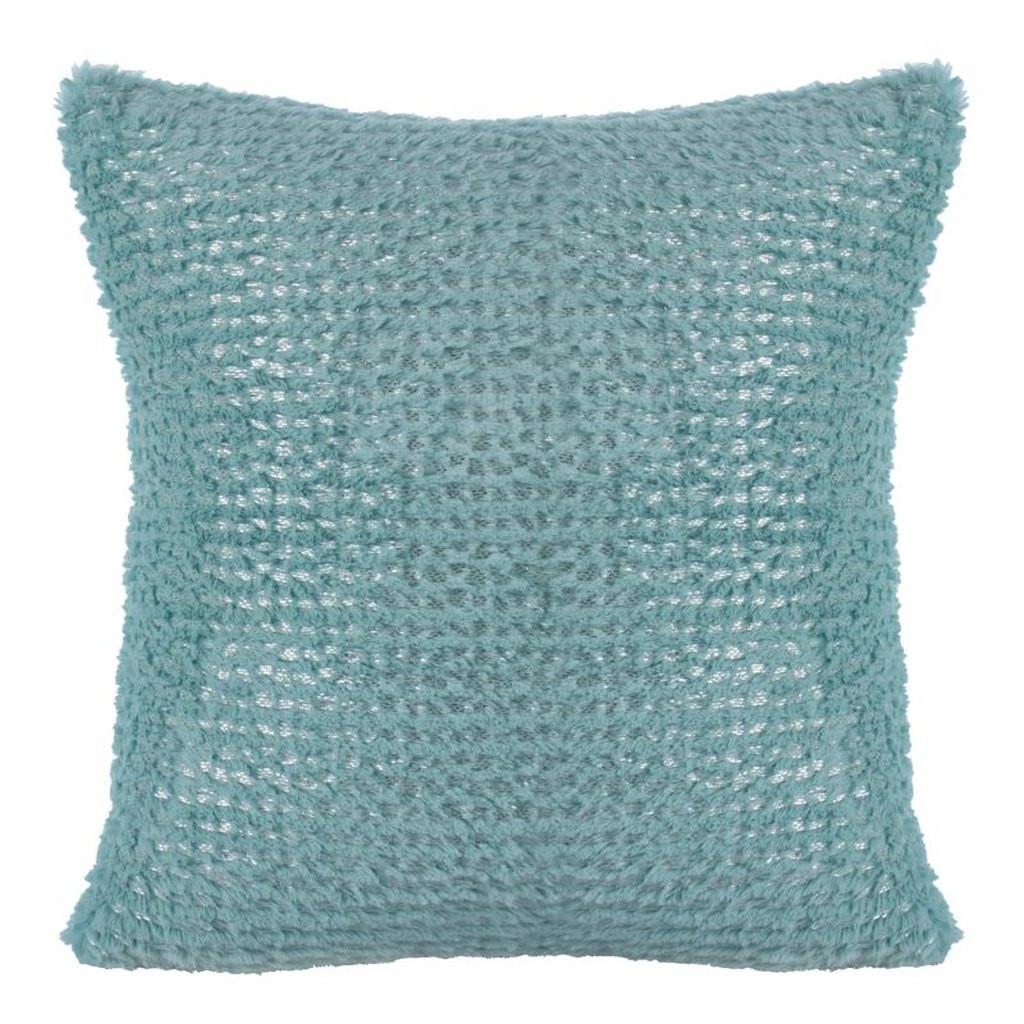 Moderní pohodlný modrý chlupatý povlak