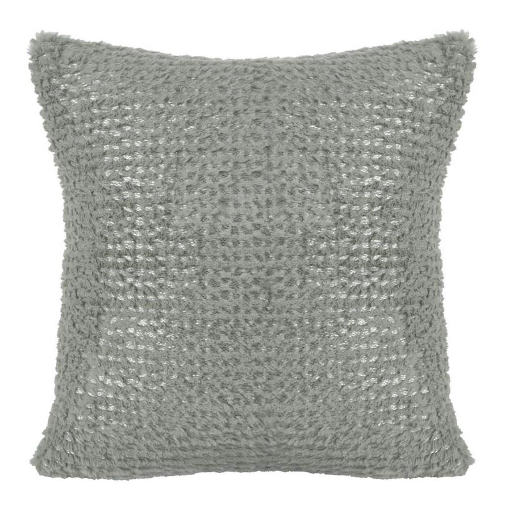 Moderní pohodlný šedý chlupatý povlak