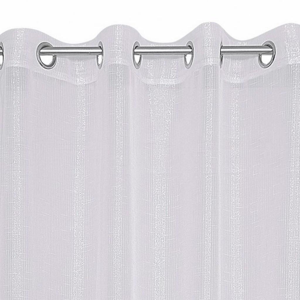 Bílá záclona na kruhy 140 x 250 cm