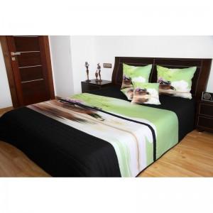 Přehoz na postel černo zelený feng shui