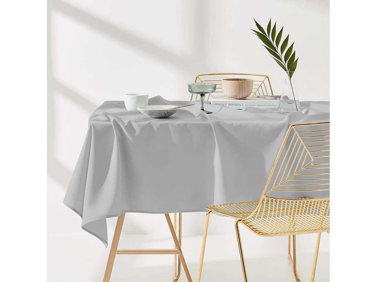 Ubrus na stůl v šedé barvě bez motivu 110 x 160 cm