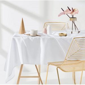 Dekorační ubrus na stůl v bíle barvě 130 x 180 cm