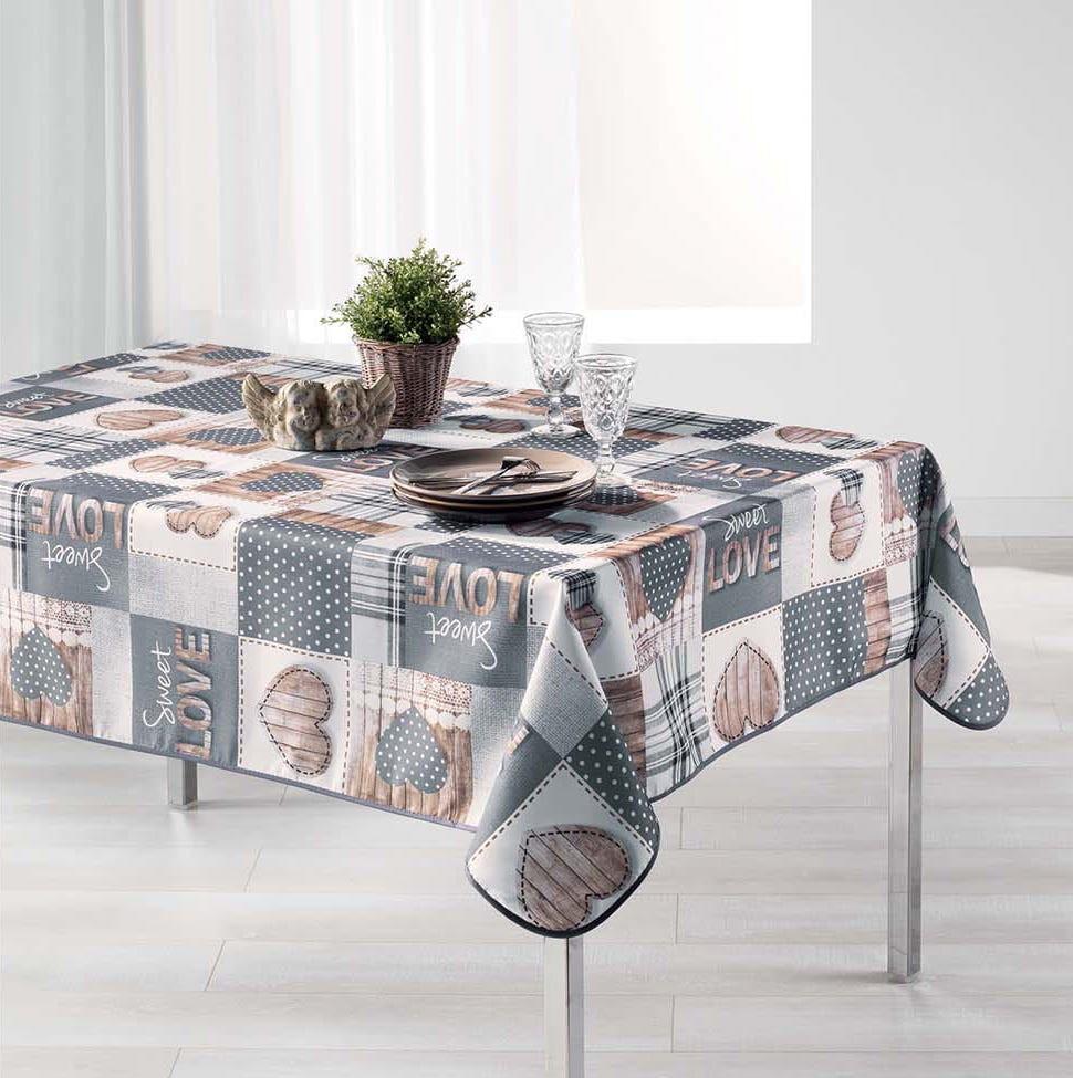 Dekorační ubrus na stůl s potlačem 150 x 240 cm