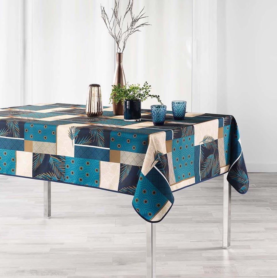 Dekorační ubrus na stůl v bíle barvě 150 x 240 cm