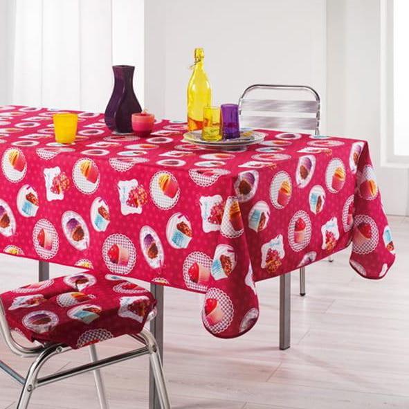 Dekorační ubrus na stůl s potlačem koláču 150 x 240 cm