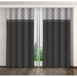 Moderní tmavě šedý závěs do obýváku