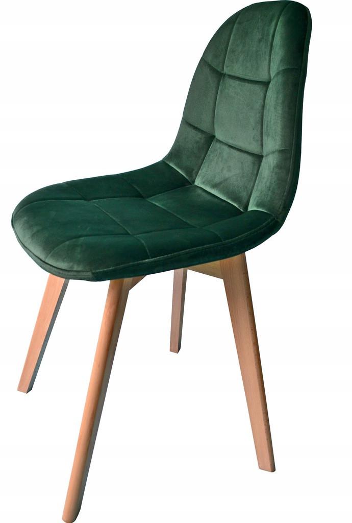 Moderní čalouněná židle zelené barvy