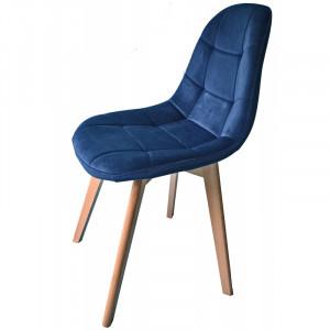 Modrá designová židle s čalouněním do kuchyně