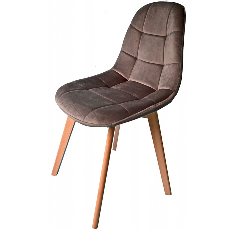 Tmavě šedá moderní židle s luxusním čalouněním
