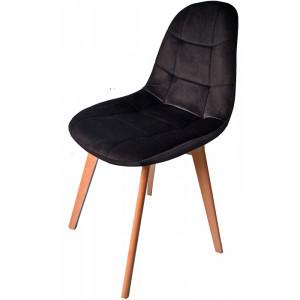 Elegantní čalouněná židle v černé barvě