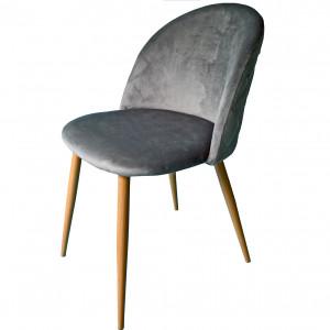 Exkluzivní čalouněné křeslo do obývacího pokoje šedé barvy